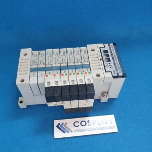 SMC EX120-SMJ1 SERIAL UNIT WITH VVQ1000-10A-1 x2 VQ1101Y-5 x2 VQ1401Y-5 x4