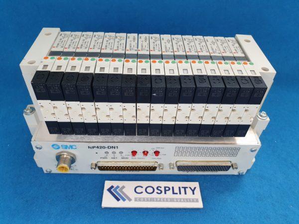 SMC NP420-DN1 MANIFOLD W/ VQ1200Y-5-X35 x12 VQ1A01Y-5 x2 VQ1201Y-5 x2