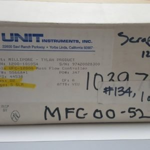 UNIT UFC-1200A MASS FLOW CONTROLLER 1200-101054 GAS O2 / 5SLM