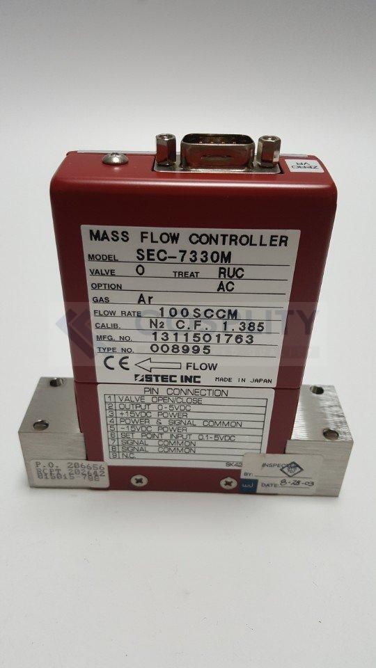 STEC SEC-7330M MASS FLOW CONTROLLER GAS Ar / 100SCCM