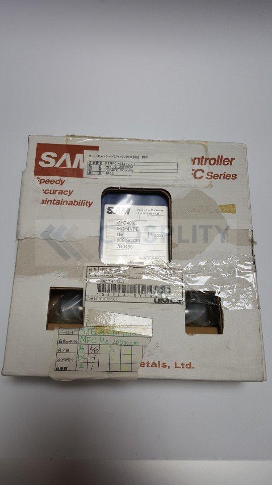 SAM SFC480E-MC-4VPE MASS FLOW CONTROLLER GAS He / 200SCCM