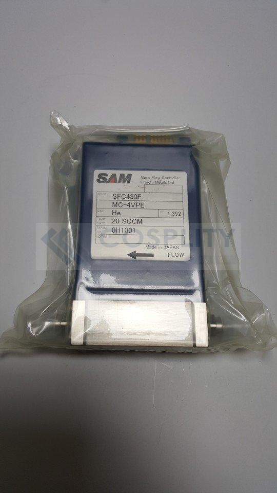 SAM SFC480E-MC-4VPE MASS FLOW CONTROLLER GAS He / 20SCCM