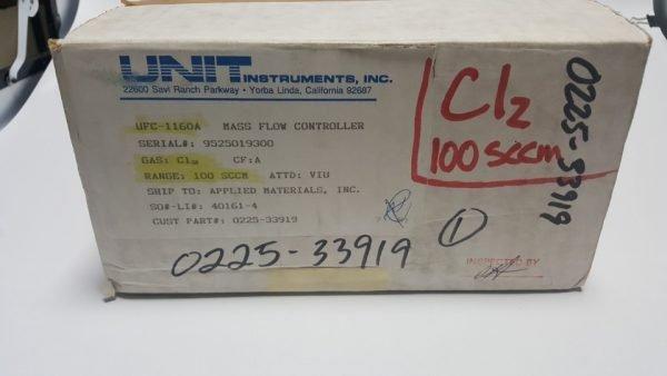 3030-01693 MFC UNIT UFC-1160A GAS CL2 / 100SCCM