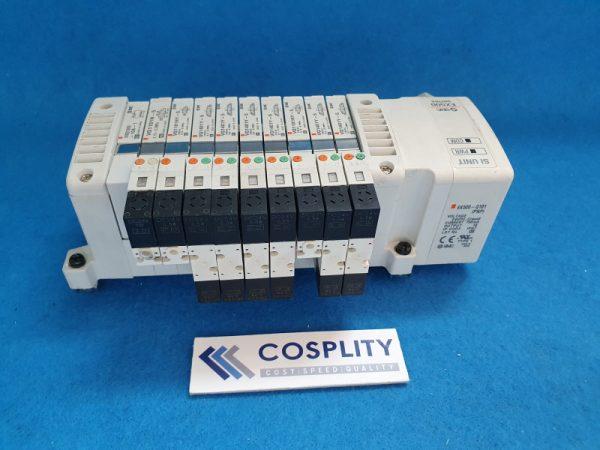 SMC EX500-Q101 MANIFOLD W/ VQ1401Y-5 VQ2201NY-5 VVQ1000 VQ1101N-5