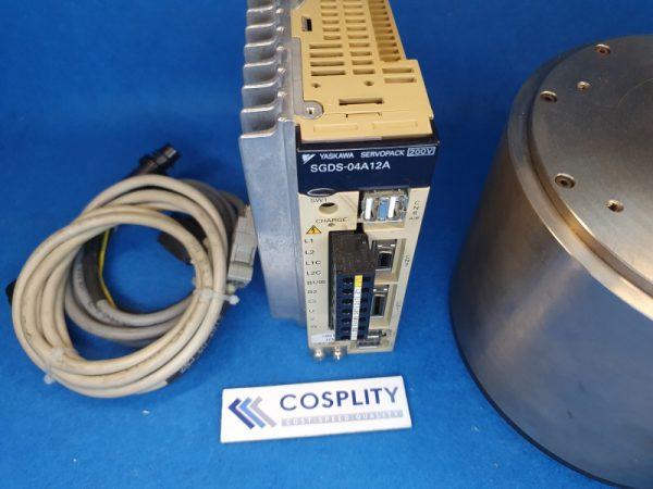 YASKAWA SGMCS-14C3B11 AC SERVO MOTOR W/ SGDS-04A12A & CABLES