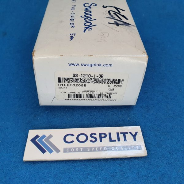 SWAGELOK SS-1210-1-OR ASSEMBLY 3/4 TUBE X 1-1/16-12 THREAD LOT OF 5